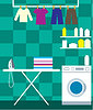 Washing room | Stock Vector Graphics