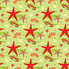 Vector clipart: Seamless crabs and starfishes pattern