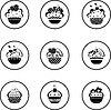Cupcakes set
