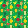 Seamless wine glasses pattern