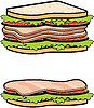 Vector clipart: Two sandwiches