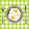 Яичница в тарелке