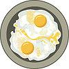 Векторный клипарт: яичница