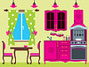 Vector clipart: Kitchen furniture. Interior