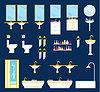 Vector clipart: Bathroom equipment set