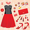 Fashion set | Stock Vector Graphics