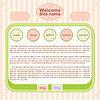 Vector clipart: Web site design template