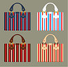 Vector clipart: Female bags