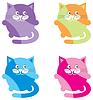 Vector clipart: Cartoon cats