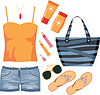 Fashionset of summer clothes | Stock Vector Graphics
