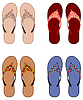 Vector clipart: Beach slippers