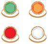 Vector clipart: Set of female jeweler rings