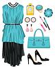 Vector clipart: Fashion set