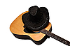 Acoustic guitar and hat | Stock Foto