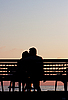 Romantic Couple at Sunset | Stock Foto
