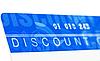 Discount card   Stock Foto