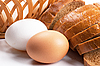 Eggs and sliced bread | Stock Foto