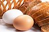 鸡蛋和切片面包 | 免版税照片
