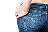 Womans jeans backside | Stock Foto