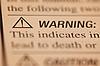 警告 | 免版税照片