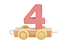 Wooden toy number 4 | Stock Foto