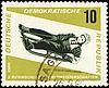 Descent to sledge on post stamp | Stock Illustration