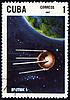 ID 3155029 | Poststempel mit dem ersten russischen Satelliten | Illustration mit hoher Auflösung | CLIPARTO