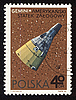 Photo 300 DPI: Postage stamp from Poland with american spaceship Gemini