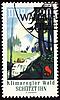 Znaczek pocztowy poświęcony ochrony lasów   Stock Illustration