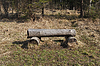 Photo 300 DPI: Log bench in forest
