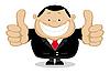 Smiling Geschäftsmann zeigt Daumen nach oben