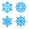Vector clipart: Symbol of snowflakes