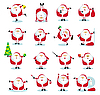 Santa in different positions | Stock Vector Graphics