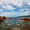Ocean and coastal cliffs - landscape | 免版税照片