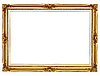 Gilded frame for painting background | Stock Foto