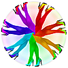 ID 3145065 | 抽象构成 - 彩虹色连裤袜 | 高分辨率插图 | CLIPARTO