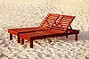Wooden sunbed | Stock Foto