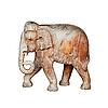 大型木雕 - 大象行走 | 免版税照片