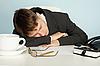ID 3145545 | Office worker was tired and fell asleep at table | Foto stockowe wysokiej rozdzielczości | KLIPARTO