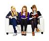 ID 3145589 | Drei Mädchen Teenager lesen sorgfältig die Bücher | Foto mit hoher Auflösung | CLIPARTO