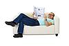 男人读报纸 | 免版税照片