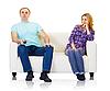 丈夫和妻子没有找到相互理解 | 免版税照片