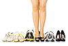 Photo 300 DPI: Selection of female shoes for different weather