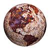 지상파 글로브 - 철에 부식 얼룩 | Stock Illustration