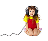 Photo 300 DPI: Child listens attentively to music