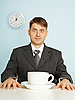 Businessman with coffee | Stock Foto