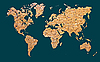 Photo 300 DPI: World map with continents made of brick