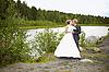 신부와 신랑 자연 | Stock Foto