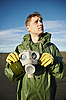ID 3147069 | Young scientist breathe air without gas mask | High resolution stock photo | CLIPARTO