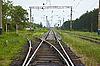 铁路线与开关 | 免版税照片